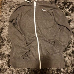 Grey Nike zip up